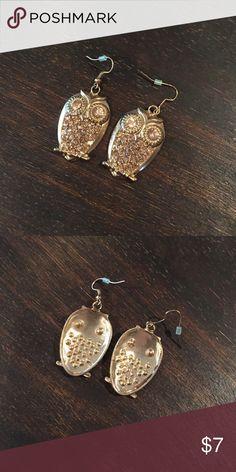 Owl earrings Rose tone pretty owl earrings Jewelry Earrings
