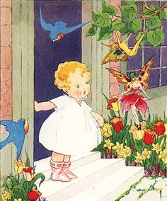 Bluebirds and Fairies - Mary Ellsworth, from The Adventures of Nip and Tuck.