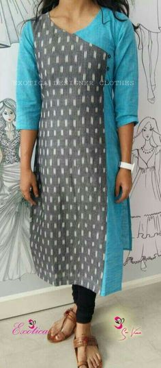 Salwar Designs, Kurta Designs Women, Dress Neck Designs, Blouse Designs, Churidhar Designs, Kalamkari Dresses, Kurta Patterns, Kurta Neck Design, Indian Designer Wear