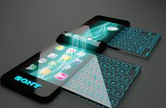 sony nextep – mobile phone with a holographic projector