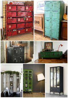furniture+from+repurposed+items | Repurposed Lockers | Stylish Patina