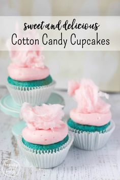 These sweet and delicious cotton candy cupcakes will be the hit of the party. Perfect for birthday parties, baby showers, or just because. via @wdcornelison