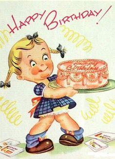Retro Birthday Clipart - Clipart Kid