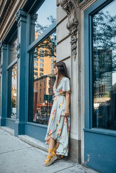 Floral Wrap Dress | Jenny Cipoletti of Margo & Me
