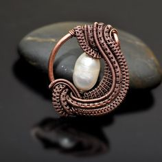 Image result for wire woven necklace with pearls