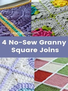 Connecting Granny Squares, Joining Crochet Squares, Granny Square Pattern Free, Crochet Square Blanket, Square Patterns, Crochet Blankets, Beginner Crochet Projects, Crochet Basics, Chunky Crochet