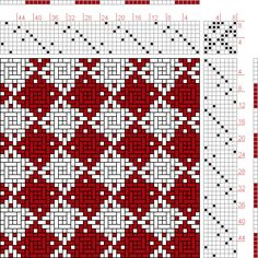 Hand Weaving Draft: Page 165, Figure 2, Orimono soshiki hen [Textile System], Yoshida, Kiju, 8S, 8T - Handweaving.net Hand Weaving and Draft Archive