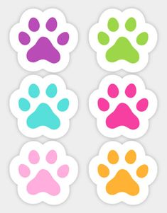 Shop Colorful paw print paw print stickers designed by Mhea as well as other paw print merchandise at TeePublic. First Birthday Hats, Birthday Parties, Dog Birthday, Cute Wallpaper Backgrounds, Cute Wallpapers, Paw Print Background, Paw Patrol Birthday Girl, Aesthetic Stickers, Cat Party