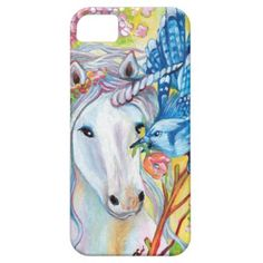 Spring Unicorn and Jay iPhone SE/5/5s Case - animal gift ideas animals and pets diy customize