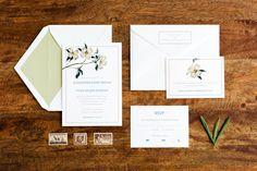 Custom Wedding Invitation   Digital Printing   Cotton Paper    www.ellopaper.com   Photo by Mary Taylor Otañez