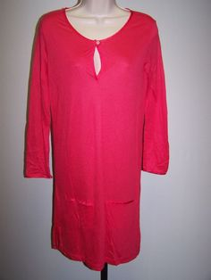 Lacoste NWT  Pentunia Pink Long Sleeve Tunic Knit Dress Size 36 / 4  RV $125 #lacoste #Tunic #Casual