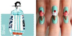 You scream, we scream, we all scream for ice cream nail art! Now all you need for the perfect Instagram pic is a big scoop of everyone's fave icy treat in this pleasant turquoise shade. Get the tutorial at Lulu's »  - GoodHousekeeping.com