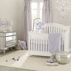 Purple Crib Bedding Sets For A Baby Girl's Nursery