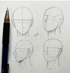 Anatomy Drawing Tutorial Techniques And Strategies For drawing tips Pencil Art Drawings, Art Drawings Sketches, Art Illustrations, Drawing Techniques, Drawing Tips, Manga Drawing Tutorials, Drawing Heads, Drawing Faces, Male Face Drawing