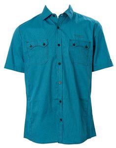 Farmers Silver Hawk Blue Stripe Short Sleeve Shirt $39.99