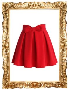 Red Bow Skirt - $39 (on sale)