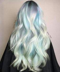 Pastel ice blue hair color Guy Tang