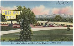File name: 06_10_020663 Title: Park View Motel, U.S. highways 6 - 50 and 10. . . West at city limits. . . Price, Utah Created/Published: Douglas R. Smith, D. C. Date issued: 1930 - 1945 (approximate) Physical description: 1 print (postcard) : linen texture, color ; 3 1/2 x 5 1/2 in. Genre: Postcards  Subject: Motels Notes: Title from item. Collection: The Tichnor Brothers Collection Location: Boston Public Library, Print Department Rights: No known restrictions