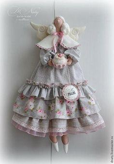 Купить Тильда Мисс Пралине - бледно-розовый, тильда, кукла Тильда, фея, фея тильда ♡