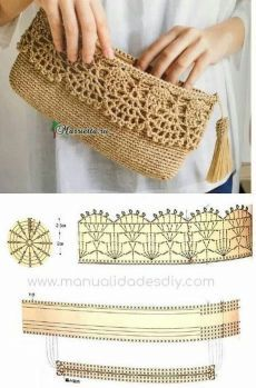 Discover thousands of images about Best 12 Purse bag crochet pattern salvabrani – Artofit Crochet Clutch Bags, Crochet Wallet, Crochet Purse Patterns, Crochet Pouch, Crochet Handbags, Crochet Purses, Knit Crochet, Crochet Bags, Crochet Backpack