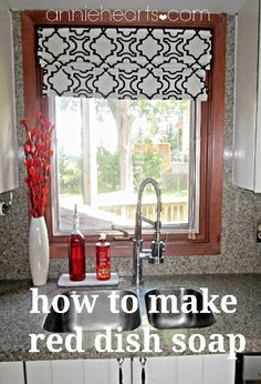 how to make hand/dish soap to match your kitchen and sored in one of the cheapie oil dispensers from walmart