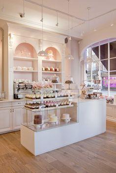 Peggy Porschen cake shop.  My favorite cake parlour design so far.