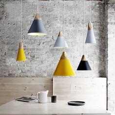 (Entrepôt UE) Lustre style campagne américainne suspension en fer processus peinture coloris blanc jaune gris luminaire cuisine chambre pas cher chez homelavafr