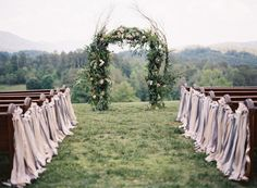 Rustic ribbons: http://www.stylemepretty.com/2014/03/11/20-ways-to-style-your-aisle/