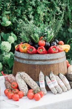 Garden inspired veggie spread: http://www.stylemepretty.com/2016/04/07/an-italian-garden-wedding-fit-for-a-princess/ | Photography: Judy Pak - http://judypak.com/