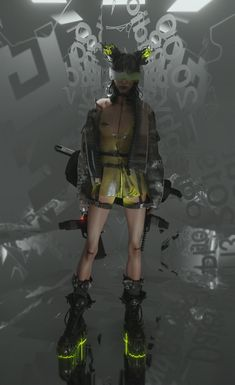 Arte Cyberpunk, Cyberpunk Aesthetic, Cyberpunk Clothes, Cyberpunk Fashion, Girls Characters, Sci Fi Characters, Female Character Concept, Character Art, Poses