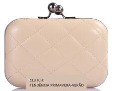 Bolsa Clutch 02 -  Bege e Preta  R$55  www.cherbijoux.elo7.com.br