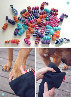 12 Easy #DIY Pet Accessories: Toys, Leashes, Collars -- and | http://my-cute-pet-collections.blogspot.com