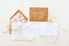Oh So Beautiful Paper: Haley's Romantic Floral + Lace Bridal Shower Invitations