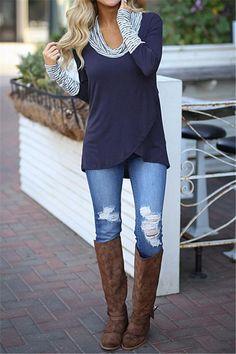 Autumn Striped Turtleneck T Shirt Femme T Shirt Women Top Female T Shirt Long Sleeve T-shirt Woman Blue Red Grey Tshirt Top Casual Skirt Outfits, Preppy Outfits, Fall Outfits, Cute Outfits, Fashion Outfits, Womens Fashion, Fashion Trends, Fashion Pants, Fashion Guide