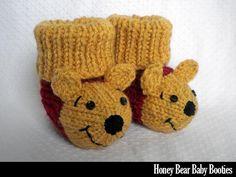 Honey Bear Baby Booties pattern on Craftsy.com 4.99