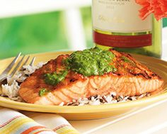 Salmon Fillet with Herb Pesto