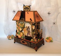 G45 An Eerie tale mini album and house stand tutorial finish part - By Anne Rostad