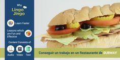 Conseguir un trabajo en un restaurante de @SUBWAY es maravillosa pero las cosas pueden complicarse cuando las instrucciones son sólo en #Ingles / #English. Nosotros en @LingoJingo creado esta lección fácil de ayudar! Aprender frases importantes, vocabulario y cómo tratar con dinero en Español y Inglés! Comience la lección aquí:http://lingojingo.com/Course/Course-for-Subway/428/0