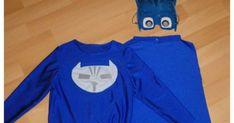 Pour la fête costumée de l'école, j'ai cousu un déguisement de Yoyo pour mon petit garçon qui est fan des Pyjamasques. Ce dessin animé es...