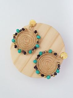 Diy Earrings, Gold Necklace, Jewelry Making, Jewels, Bracelets, How To Make, Crafts, Accessories, Beaded Jewelry