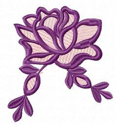 Violet rose free embroidery design 2 #violetrosedesign #freeembroidery #flower #classicdesign #forcushiondecoration