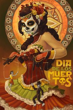 This art, designed by Alix Branwyn, celebrates Dia de los Muertos, and was used on the cover of the Oct., 2013 issue of TODO Austin. (Used with permission.)
