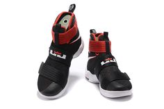 3fdbff3c93f4 2017 April New Arrival Nike LeBron Soldier 10 X Bred Black University Red  Cheap - Click Image to Close