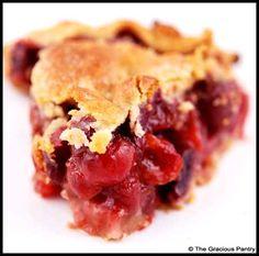 Clean Eating Cherry Pie  www.TheGraciousPantry.com