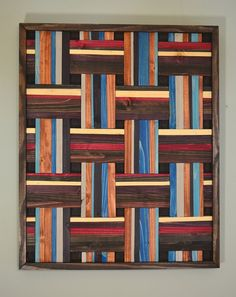 Weave Loungin' around   wooden wall art wall by StainsAndGrains, $355.00