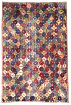 Vintage Multicolor Floral Turkish Carpet Area Rug by bazaarbayar