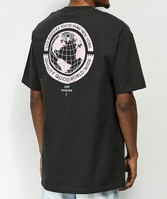 Empyre Worldwide Washed Black T-Shirt Empyre no mundo lavou o t-shirt preto T Shirt Designs, Shirt Print Design, Design Logo, Tee Design, Graphic Design, Graphic Shirts, Printed Shirts, Urban Outfit, Logos Retro