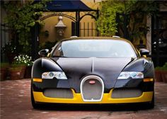 Outrageous is the only way to describe the Bugatti Veyron. The fastest production car in the world with a top speed of Bugatti Cars, Bugatti Veyron, Exotic Sports Cars, Exotic Cars, Fancy Cars, Nice Cars, Car Wheels, Expensive Cars, Hot Cars