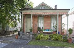 Shotgun house . The home of James Perry and Melissa Harris-Perry . Esplanade Ridge . New Orleans . Louisiana