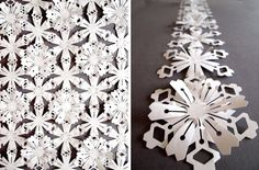 White tyvek interlinking flowers - Garland or Sheet  by Sarah Louise Matthews on Etsy